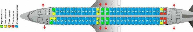 Boeing 737-800 авиакомпании Победа схема салона, лучшие места, характеристики