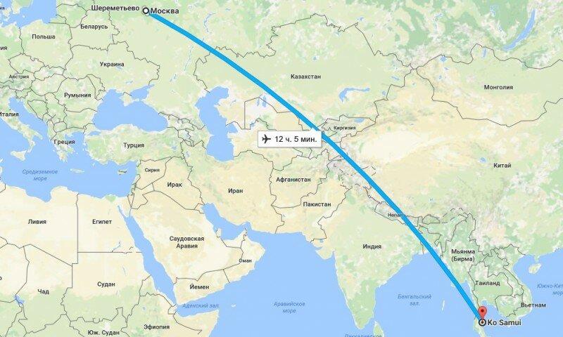 Сколько лететь до Паттайи из Москвы прямым рейсом. Аэрофлот